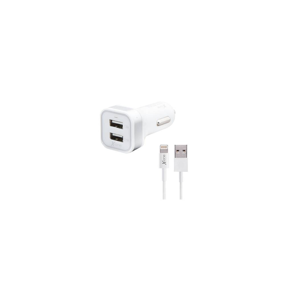 X One Cargador Coche USB 21A Cable Lightning
