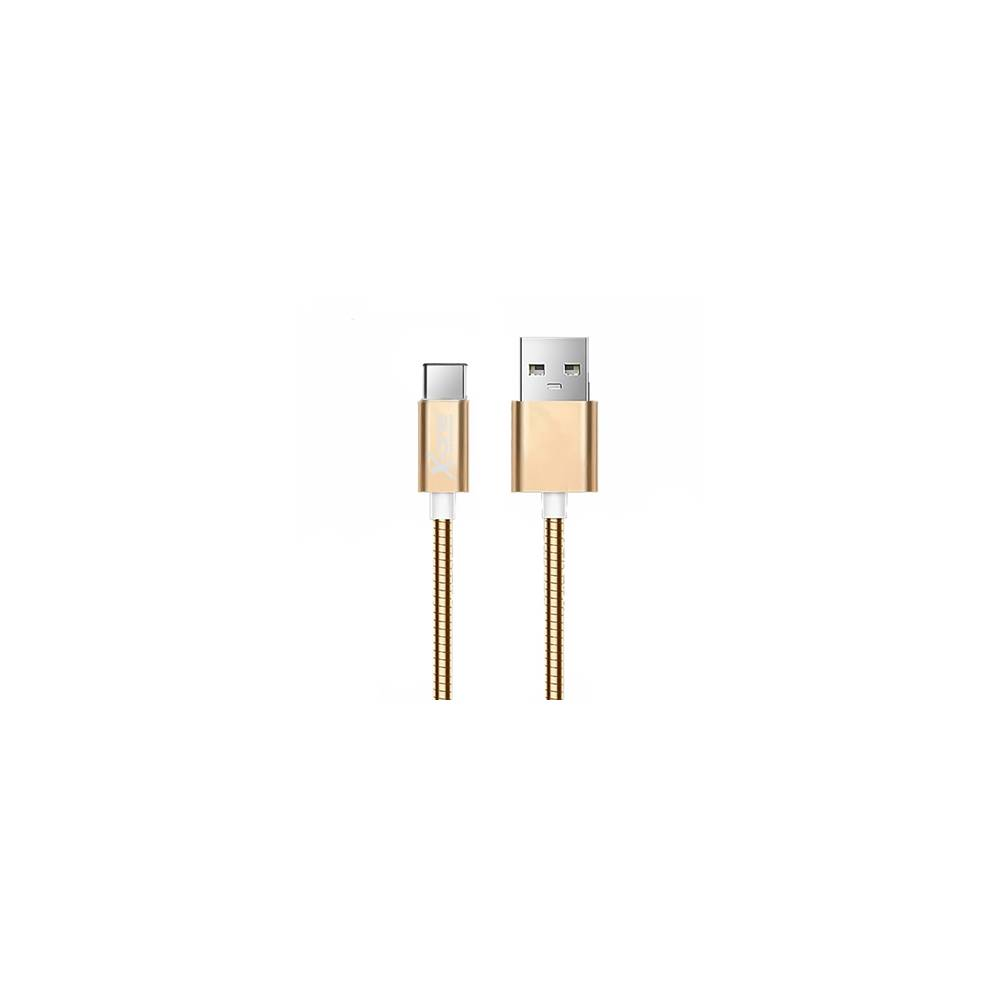 X One CMC1000G Cable USB metal Tipo C Oro Rosa